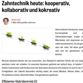 Zahntechnik heute kooperativ, kollaborativ und kokreativ 05 18 Expertin fuer kooperative Zusammenarbeit Ulrike Stahl