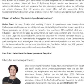 Zeit fuer individuelle Teamplayer 2018 Expertin fuer kooperative Zusammenarbeit Ulrike Stahl