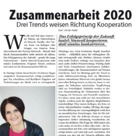Zusammenarbeit 2020 Trend Kooperation - StartupValley 01_20 von Ulrike Stahl Keynote Speaker, Rednerin fuer Kooperation und erfolgreiche agile Zusammenarbeit