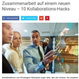 Zusammenarbeit auf einem neuen Niveau 10 Kollaborations Hacks 3minutencoach.com 2019 Expertin fuer kooperative Zusammenarbeit Ulrike Stahl